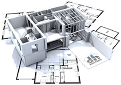 Illustration de plans et architectures 3D